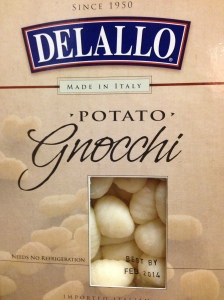 Someday I will make my own gnocchi.  But today is not that day.