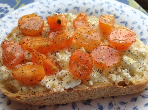 Tomato Goat Cheese Crostini