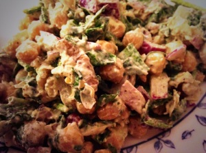 Another one of my new favorites-- Lemony Chickpea Salad.