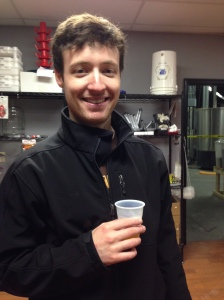 Happy (and dry!) while sampling Southern Belle, a brown ale flavored with