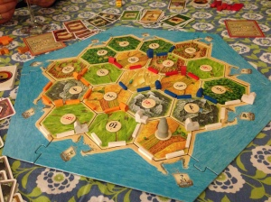We played Settlers of Catan.  And it was SO fun and I have zero regrets about our lack of coolness.