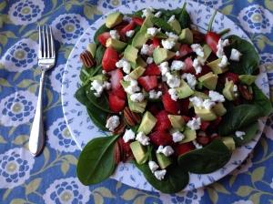 strawberry avo salad