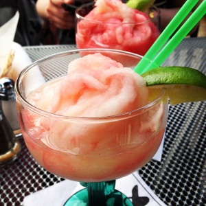 Ok, so this isn't exactly detox food, but this post-exams celebratory strawberry-lime margarita was too pretty and delicious not to share-- I hope it inspires you to imbibe a little too!