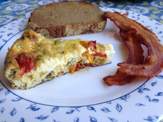And then you pair it with other delicious goodies like Corn Rye bread and bacon because even frittatas need friends, guys.