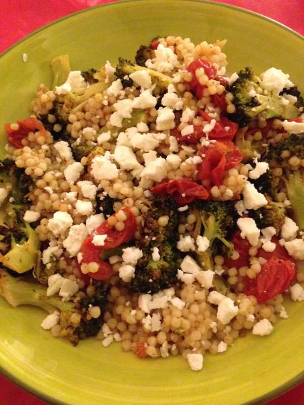 Roasted Broccoli and Tomato Couscous