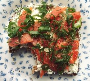 Smoked Salmon Dill Toast